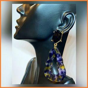 🏷 🆕 Obsidian Inspired Stone Dangle Earrings